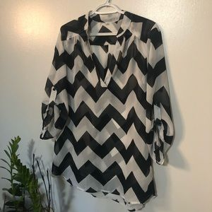 Ardenes black and white blouse  3/$33